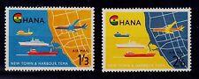 GHANA SCOTT# C3- C4 MNH  OPENING OF TEMA HARBOR