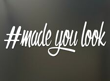#made you look JDM girl sticker drift honda Funny JDM car truck window decal