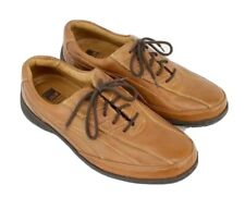 Johnston & Murphy XC4 Sheepskin Mens Casual Shoes 8 Tan Leather Lace Up Comfort