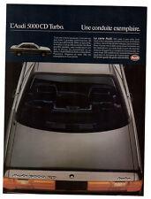 1984 AUDI 5000 CD Turbo Vintage Original Print AD - Silver car photo french