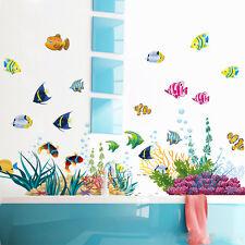 Submarino peces acuáticos Mural Pared Adhesivo Decoración Hogar calcomanías infantil del Reino Unido