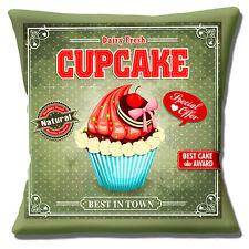"""Retrò Vintage grande Cupcake Multicolore VECCHIO screziato 16 """"Cuscino Coprire"""