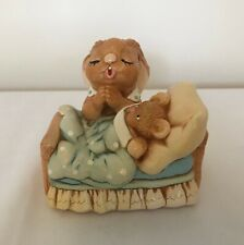Pendelfin Rabbit Stonecraft Figurine - Victoria With Teddy Bear