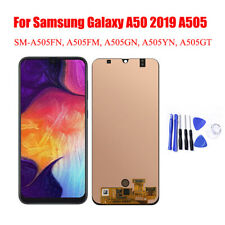 Display LCD + Touch Screen Per Samsung Galaxy A50 2019 A505 Schermo Vetro Nero