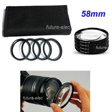 58mm Close-up Filter Macro Lens +1 +2 +4 +10 For Canon 7D 550D 650D 1100D 1200D