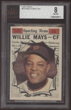 1961 Topps #579 Willie Mays All-Star Giants BVG 8 NM-MT