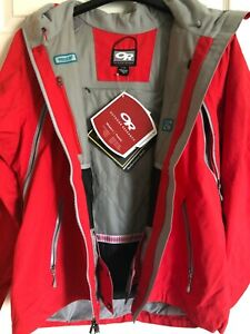 NWT Outdoor Research OR GORE-TEX Axcess Insulated Ski Jacket  RECCO Womens L Red