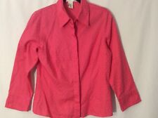 GEOFFREY BEENE SPORT Size 8 Pink  Career Button Down Shirt Blouse Top