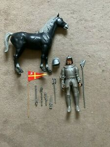 Vintage Marx Action Figure 1960s Sir Stuart the Silver Knight