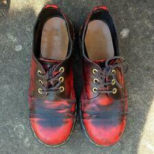 RARE vintage Dr Martens cherry red black rub off 1990s made in england uk4 eu37
