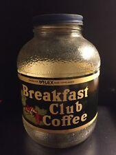 """Vtg*Antique RARE """"BREAKFAST CLUB Coffee"""" JAR Original LOS ANGELES; SAN FRANCISCO"""
