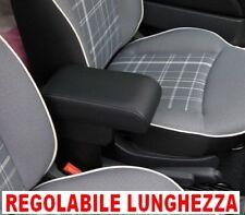 FIAT 500 Bracciolo regolabile lunghezza  ecopelle NERO anche resyling 2016 per