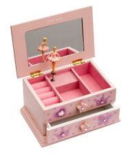 Pink Ballet Dance Wooden Jewellery Box By Katz Christmas Birthday Present JB08