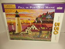 """Spilsbury Puzzle Co. Fall In Portland Maine 550 Piece Puzzle 18""""x24"""" 1998 Sealed"""