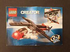 4918 LEGO CREATOR 3 IN 1 Instruction Manual Book