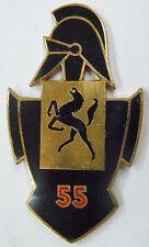 Insigne SANS ATTACHE 55° GENIE Drago Guerre d'Algérie AFN ORIGINAL émail