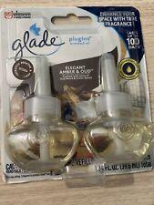 Glade Plug Ins Scented Oil - 2 ct Elegant Amber & Oud