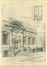 1907 Selected Designed The Public Library At Kendal Tf Pennington