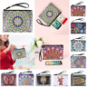 DIY Mandala Special Shaped Diamond Painting Wristlet Wallet Purse Women Coin Bag