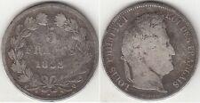 Monnaie Française 5 francs argent Louis-Philippe I 1833 Q Rare