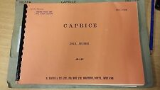 Huber: Caprice: Brass Band Music Score