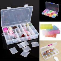 10/15/24/28 Slots Adjustable Storage Box Plastic Case Jewelry Beads Organizer