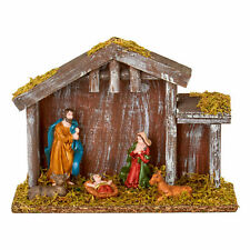 Christmas Nativity 5 Piece Figure &amp Stable Scene N184600