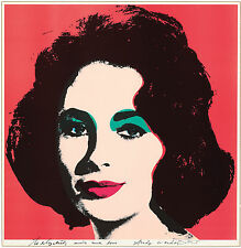 By ANDY WARHOL LIZ  pop art  print large 50cm X 50cm CANVAS