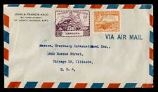 Dr Who 1950 Antigua To Usa Air Mail C197640