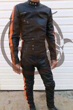 Leather Catsuit Jumpsuit Jacket Pants Lamb Leather Bikers Designed by Lenny