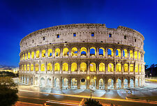 STUNNING Rome Colosseum City Skyline Canvas #486 A1 Wall Hanging Art Picture