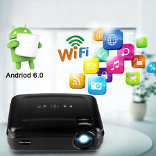 3200Lumen HD 1080P Home Theater Android WiFi 3D LED Projector BT HDMI VGA USB 8G