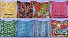 "Ethnic Cotton 16"" Paisley Floral Indian Kantha Cushion Cover Boho Pillow Case"