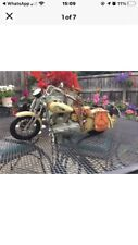 More details for vintage style metal indian motorcycle ornament