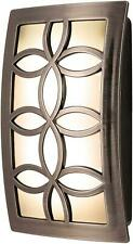 GE Faux Nickel Leaf Design Night Light LED Energy Efficient & Cool To Touch NEW