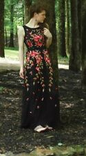 Victorian Trading Co NWD Briar Rose Red Pink Black Organza Gown Dress M