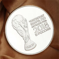 Silver Russian 2018 Football Commemorative Coin Football Collection Coins TP