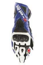 OXFORD RP-2 LEATHER ARMOURED SUMMER MOTORCYCLE SPORTS RACING GLOVES BLUE - T
