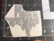 Made in Texas decal sticker die cut vinyl Car window State Truck