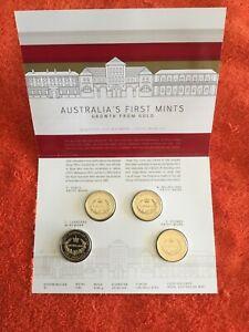 Australian 2016 X4 Mintmark $1 X ,P ,C ,M , S ,first Mints Pristine Unc,