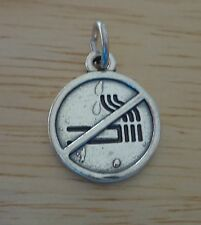 Sterling Silver 15x12mm Do Not Enter Driving Road Street Highway Sign Charm