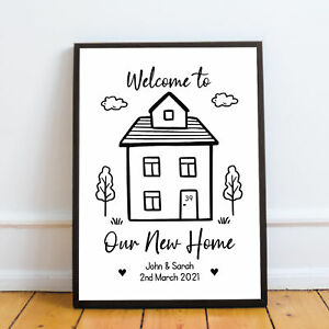 PERSONALISED House Warming Print New Home Gift First Home Our First Home Gift