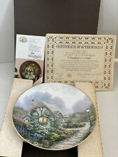 Thomas Kinkade Chandler's Cottage Knowles Plate