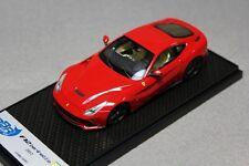 1:43 BBR Ferrari F12 Berlinetta 2012 Red Black Wheels L.E. UNIQUE ON EBAY SITE