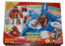 Rescue Heroes Voice Tech Rescue Jet Gift Set Rare (NIB)