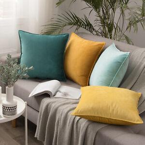 Modern Nordic Velvet Single Colour Cushion Pillowcase Cover