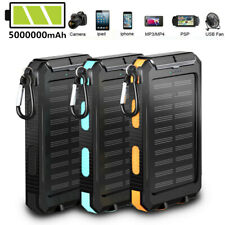 2021 Super 5000000mAh Solar&2USB Portable Fast Charger Power Bank For Cell Phone