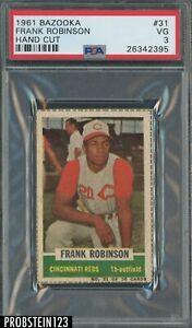 1961 Bazooka #31 Frank Robinson Cincinnati Reds HOF PSA 3 VG