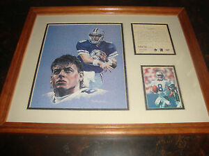 Troy Aikman---Lithograph---Framed & Matted---12x15---1995---Serial #10516/12500