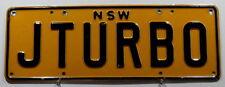 "Nummernschild Australien New South Wales ""JTURBO""! 3115"